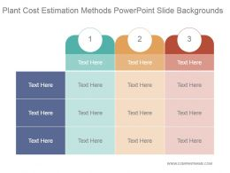 Plant Cost Estimation Methods Powerpoint Slide Backgrounds