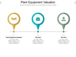 Plant Equipment Valuation Ppt Powerpoint Presentation Tips Cpb