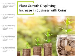 Plant Growth Displaying Increase In Business With Coins
