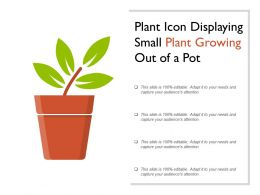 Plant Icon Displaying Small Plant Growing Out Of A Pot