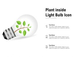 Plant Inside Light Bulb Icon