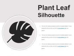 Plant Leaf Silhouette Presentation Layouts
