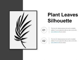 Plant Leaves Silhouette Presentation Images