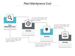 Plant Maintenance Cost Ppt Powerpoint Presentation Show Summary Cpb