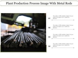 Plant Production Process Image With Metal Rods