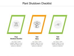 Plant Shutdown Checklist Ppt Powerpoint Presentation Model Graphics Template Cpb