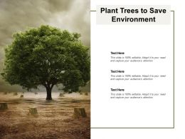 Plant Trees To Save Environment