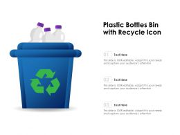 Plastic Bottles Bin With Recycle Icon