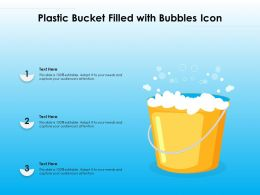 Plastic Bucket Filled With Bubbles Icon