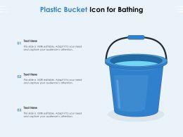 Plastic Bucket Icon For Bathing
