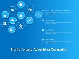 Plastic Surgery Advertising Campaigns Ppt Powerpoint Presentation Show Information