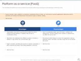Plat Form As A Service Paas Cloud Security IT Ppt Demonstration