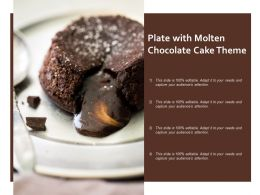 Plate With Molten Chocolate Cake Theme