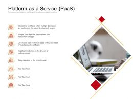 Platform As A Service PaaS Needed Ppt Powerpoint Presentation Show Gallery