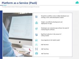Platform As A Service Paas Ppt Powerpoint Presentation Infographics Pictures
