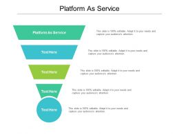 Platform As Service Ppt Powerpoint Presentation Visual Aids Summary Cpb