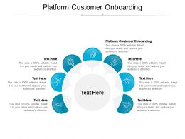 Platform Customer Onboarding Ppt Powerpoint Presentation Icon Design Templates Cpb