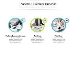 Platform Customer Success Ppt Powerpoint Presentation Template Cpb