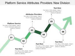 Platform Service Attributes Providers New Division Disruptive Innovation