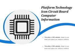 Platform Technology Icon Circuit Board Computer Information