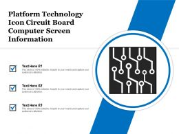 Platform Technology Icon Circuit Board Computer Screen Information