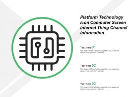Platform Technology Icon Gear Computer Screen Internet Thing Channel Information