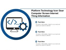 Platform Technology Icon Gear Computer Screen Internet Thing Information