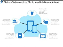 Platform Technology Icon Mobile Idea Bulb Screen Network Internet