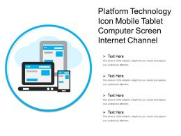 Platform Technology Icon Mobile Tablet Computer Screen Internet Channel