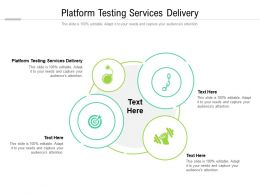 Platform Testing Services Delivery Ppt Powerpoint Presentation Icon Cpb