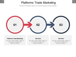 Platforms Trade Marketing Ppt Powerpoint Presentation Infographics Icons Cpb