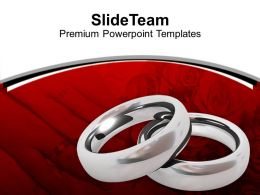 Platinum Rings Love Wedding Powerpoint Templates Ppt Themes And Graphics 0313