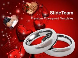 platinum wedding rings with hearts powerpoint templates ppt themes and graphics 0213