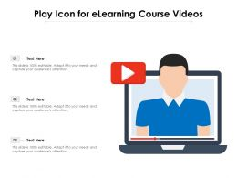 Play Icon For Elearning Course Videos
