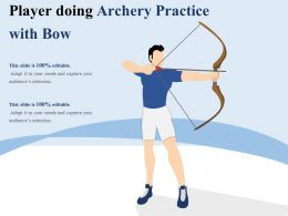 Player Doing Archery Practice With Bow