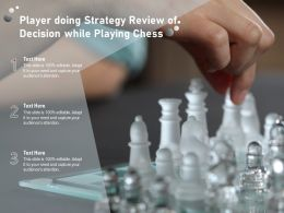 Player Doing Strategy Review Of Decision While Playing Chess