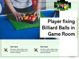 Player Fixing Billiard Balls In Game Room