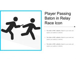 Player Passing Baton In Relay Race Icon