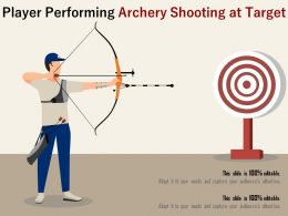 Player Performing Archery Shooting At Target
