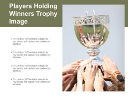 Players Holding Winners Trophy Image