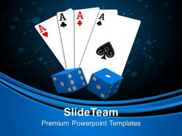 Playing Card With Dices Game Entertainment PowerPoint Templates PPT Themes And Graphics 0213