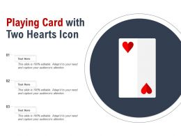 Playing Card With Two Hearts Icon