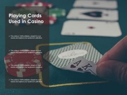 Playing Cards Used In Casino