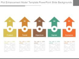 Plot Enhancement Model Template Powerpoint Slide Backgrounds