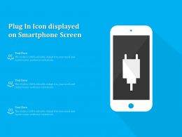 Plug In Icon Displayed On Smartphone Screen