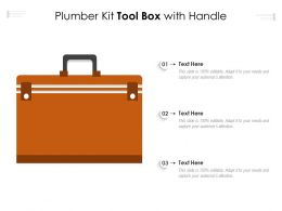 Plumber Kit Tool Box With Handle