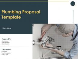 Plumbing Proposal Template Powerpoint Presentation Slides