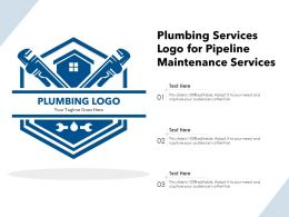 Plumbing Services Logo For Pipeline Maintenance Services