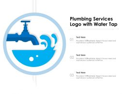 Plumbing Services Logo With Water Tap