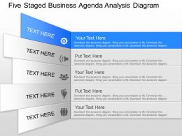 pm Five Staged Business Agenda Analysis Diagram Powerpoint Template